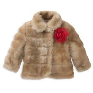 Kate Spade Girls Faux Fur Coat 14Y
